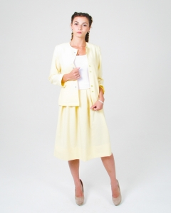 Костюм летний женский лимонный