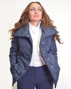 Куртка плащевая темно-синяя