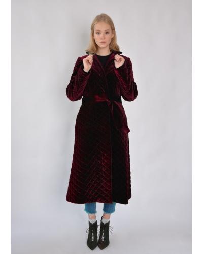Пальто бархатное зимнее