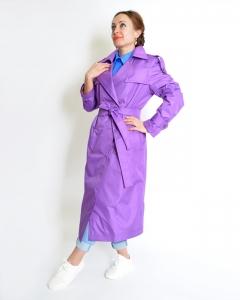Тренч фиолетовый