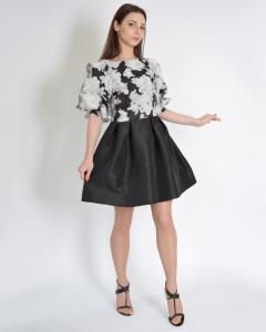 Платье из органзы комбинированное