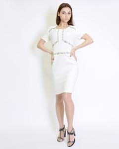 Платье приталенное белое