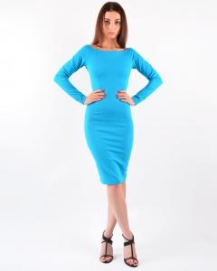 Платье из джерси голубое