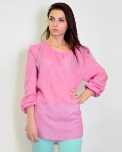 Блуза хлопковая розовая