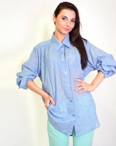 Рубашка хлопковая синяя
