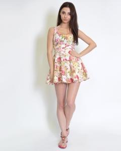 Платье-туника с цветочным принтом