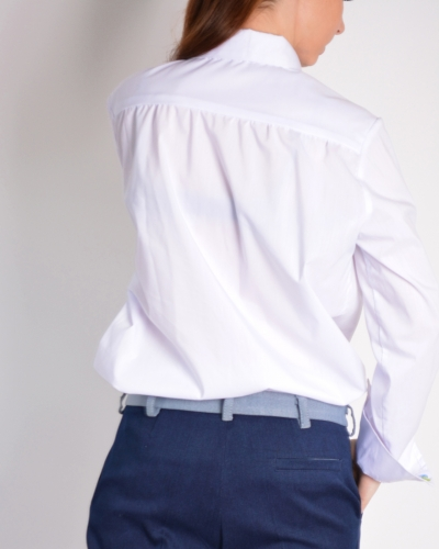 Рубашка с ассиметричной застежкой