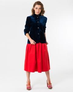 Пиджак бархатный синий