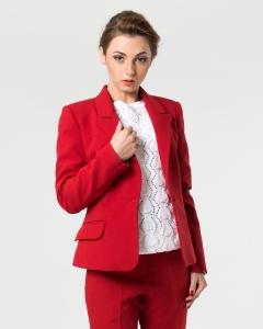 Пиджак офисный красный